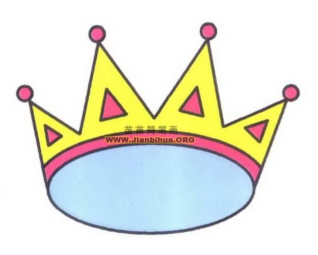 皇冠简笔画 图片教程高清图片