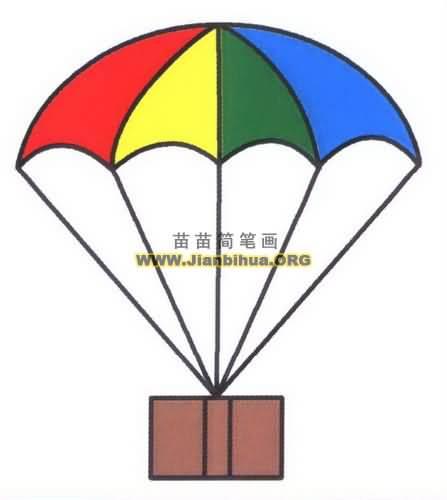 降落伞简笔画图片教程