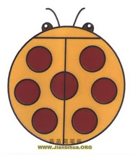 七星瓢虫简笔画图片教程