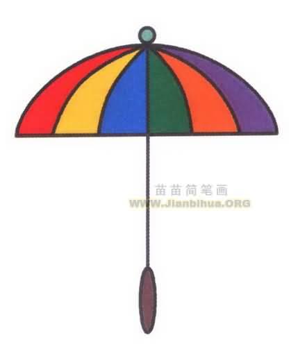 雨伞简笔画图片教程
