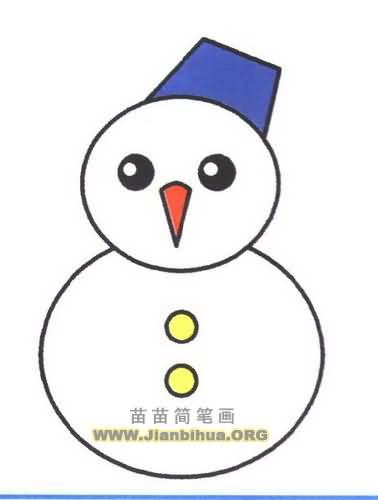 简笔画雪人雪花图片