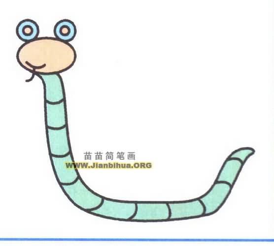 卡通眼镜蛇简笔画图片教程