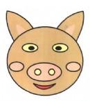 猪头头像简笔画图片教程