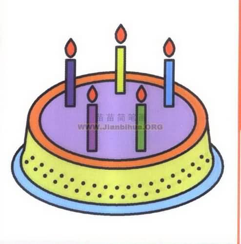 生日蛋糕简笔画图片教程