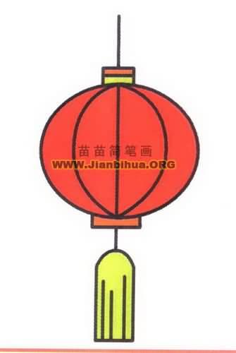 春节灯笼简笔画图片教程