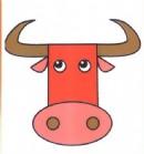 公牛头像简笔画图片教程