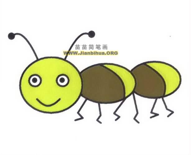 蚂蚁简笔画图片教程