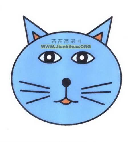猫咪头像简笔画图片教程