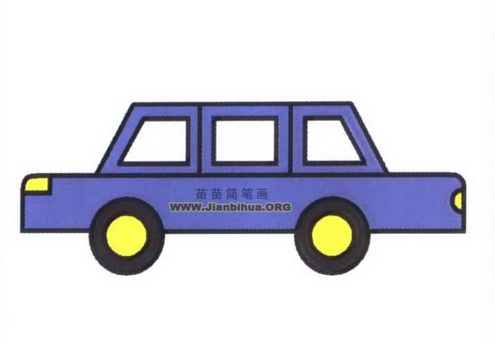 小汽车简笔画图片教程