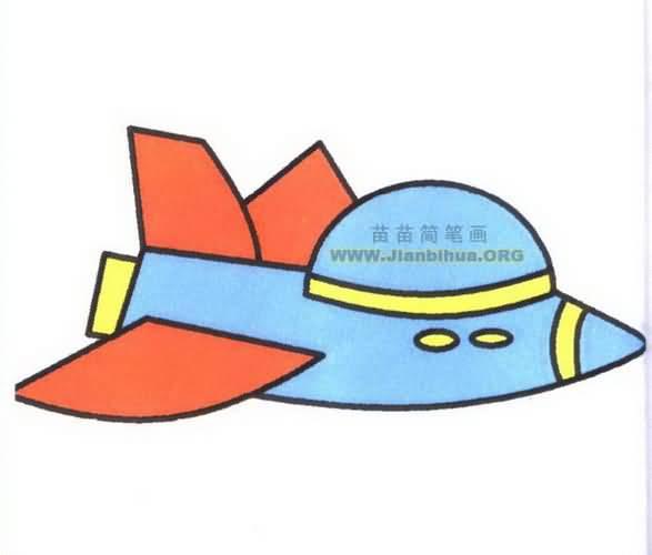 飞船的简笔画图片