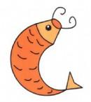 卡通鲤鱼简笔画图片教程