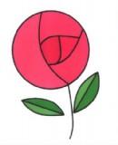 卡通玫瑰花简笔画图片教程