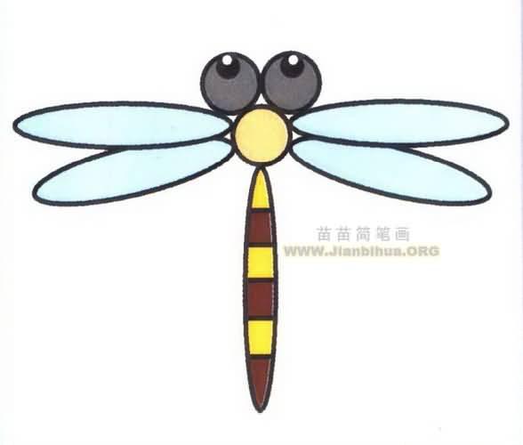 蜻蜓简笔画图片教程