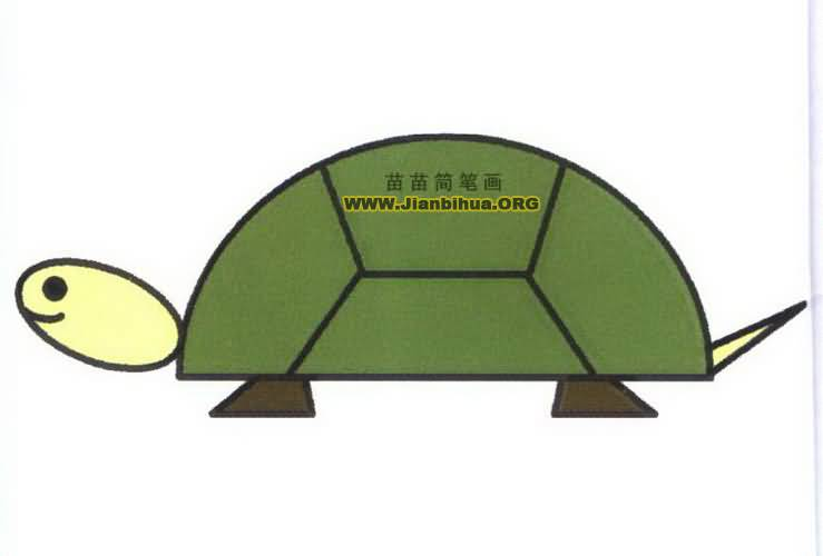 卡通乌龟简笔画图片教程