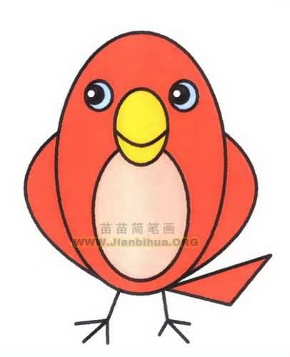 小鸟简笔画步骤图片教程