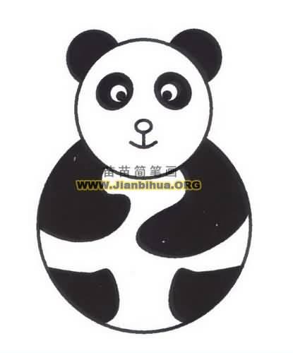 熊猫简笔画图片教程