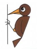 啄木鸟简笔画图片教程