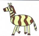 卡通斑马简笔画图片教程