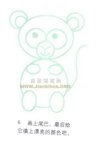 小兔子彩色简笔画图片内容小兔子彩色简笔画图片  幼儿园中班美术教案