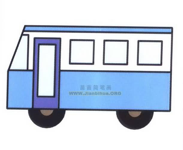 客车简笔画图片大全