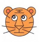 老虎头像简笔画图片教程