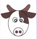 卡通奶牛头像简笔画图片教程