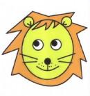 卡通狮子头像简笔画图片教程