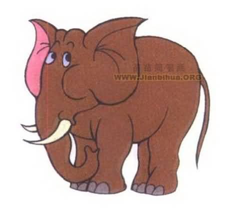 大象简笔画图片大全图片