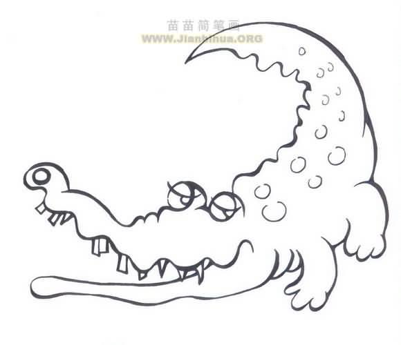 小鳄鱼简笔画图片大全