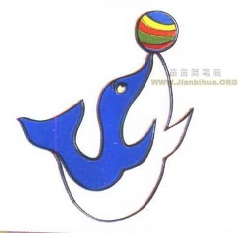 海豚怎么画dolphin 海豚怎么画下面是海豚的卡通图,我帮你挑了几张