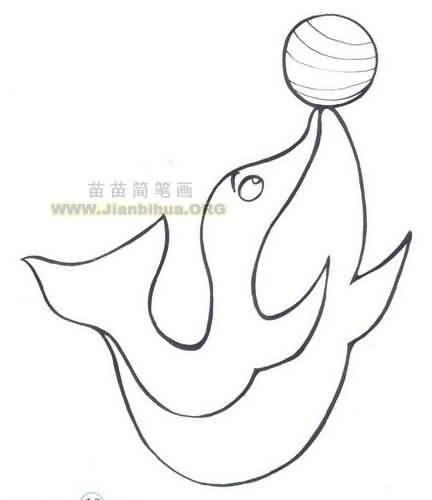 海豚简笔画图片大全