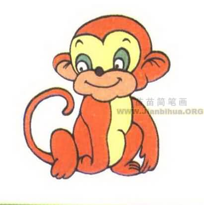 猴子简笔画图片大全