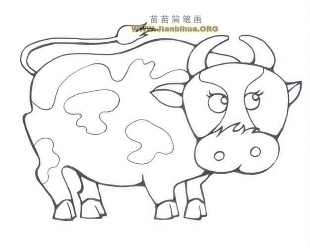 卡通奶牛简笔画图片大全