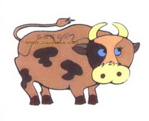 卡通奶牛简笔画图片大全图片