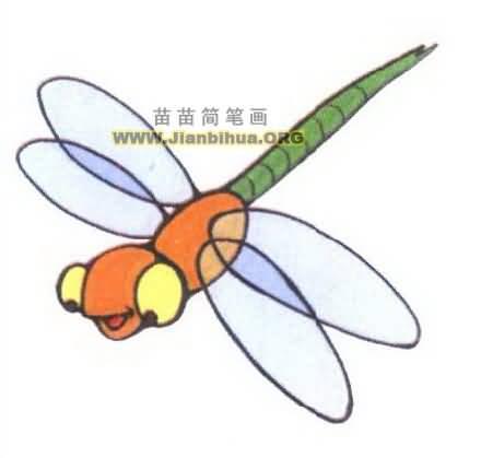 蜻蜓简笔画图片大全二