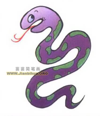 蛇简笔画图片大全