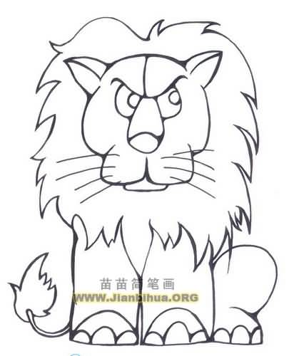 狮子简笔画图片大全