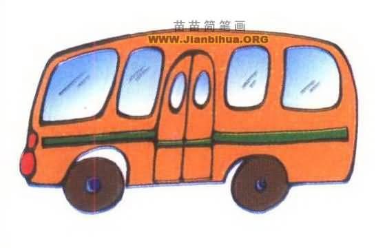公共汽车简笔画图片大全