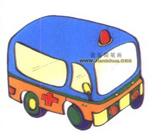 救护车汽车简笔画内容图片展示_救护车汽车简笔画
