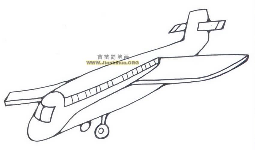 客机简笔画图片大全