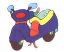 摩托车简笔画图片大全二