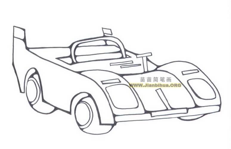 F1赛车简笔画图片大全