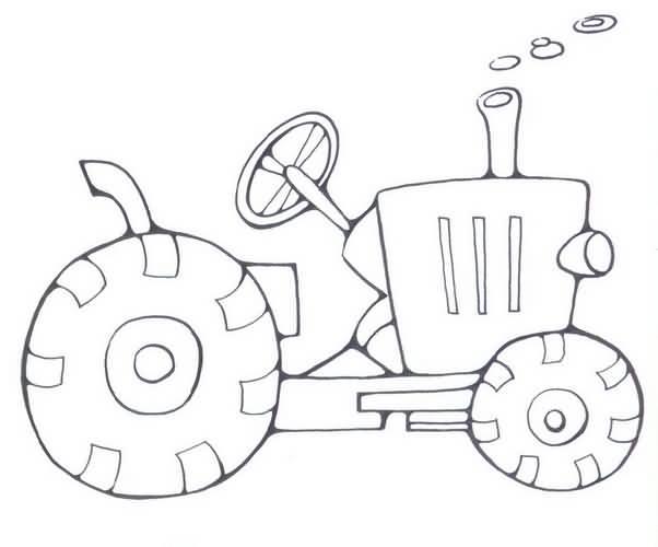 拖拉机简笔画步骤