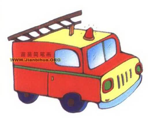 vivoy33:消防车简笔画图片大全