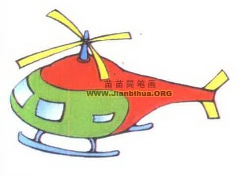 儿童客机简笔画画法步骤_简笔画网