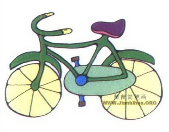 自行车简笔画图片三 自行车,又称脚踏车或单车,通常是二轮的小型陆上车辆。人骑上车后,以脚踩踏板为动力,是绿色环保的交通工具。英文bicycle。其中bi意指二,而cycle意指轮,即两轮车。在中国内地、台湾、新加坡,通常称其为自行车或脚踏车;在港澳则通常称其为单车(其实粤语通常都这么称呼);而在日本称为自転(转)车。自行车种类很多,有单人自行车,双人自行车还有多人自行车。