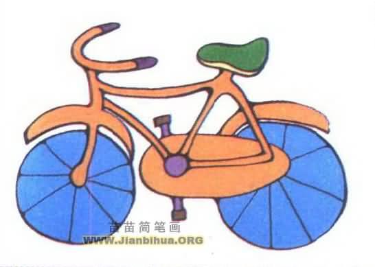 三国筒笔画图片大全-自行车简笔画图片大全