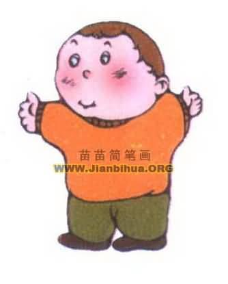 人物简笔画 中国卡通人物简笔画 >> 正文内容   小孩指儿童;幼儿.