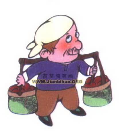 农民简笔画图片 农民简笔画图片大全 社会热点图片 非主流图片站
