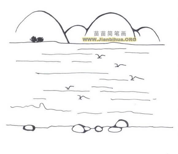 轮船大海简笔画图片大全内容图片展示_轮船大海简